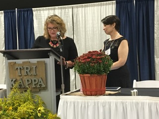 Council President Lynn Payne and Province XI Officer Lisa Dulcich-Suyeyasu
