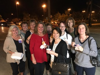 Council Members enjoying ice cream the evening before the Province III PCOT.