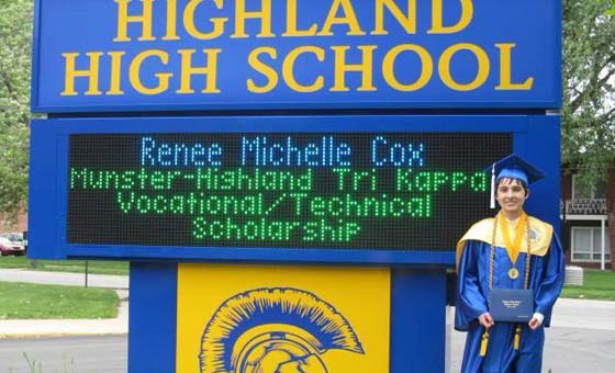 Tri Kappa Vocational Scholarship winner