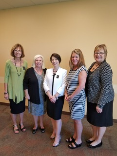 Council President Lynn Payne's reception - Kris Klus, Janet Perry, Lynn Payne, Diane Trout-Cummins and Jenny McBride.