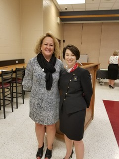 Province X Officer Michele Carnahan and Council President Lynn Payne at the Province X PCOT