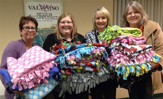 Tri Kappa blankets for Riley Hospital