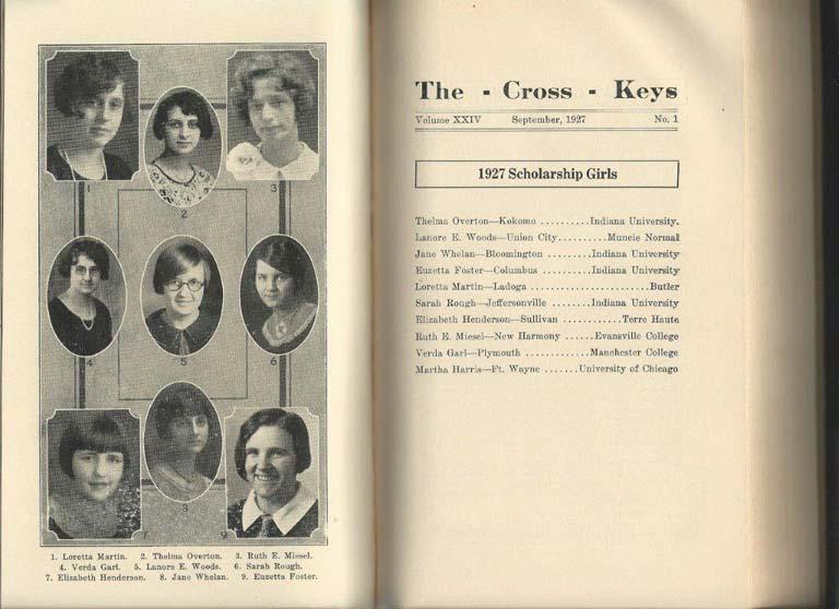 Tri Kappa Scholarships 1927