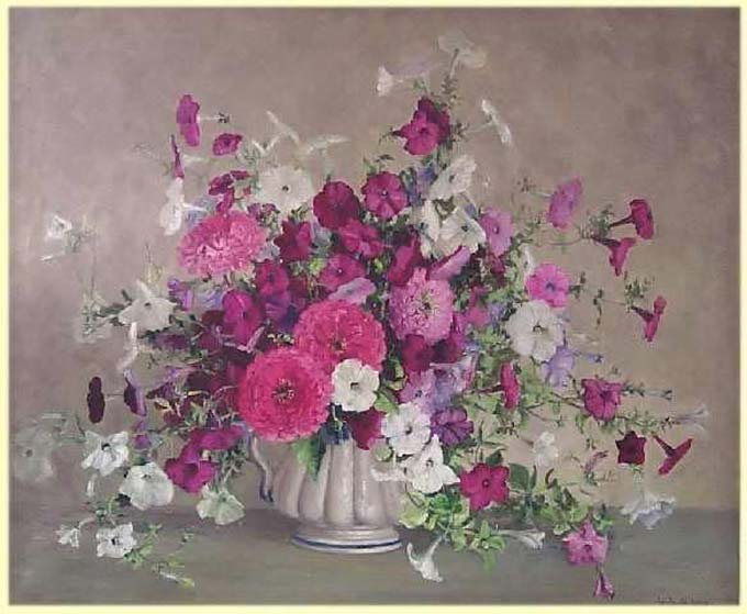 Tri Kappa Fine Arts Collection - Petunias A Plenty