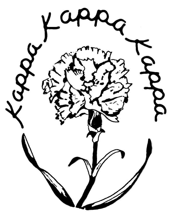 Tri Kappa Oval Carnation