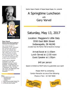 Crooked Creek presents Gary Varvel at A Springtime Luncheon