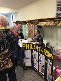 Philanthropy table at the Province II PCOT