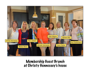 From the Fishers Chapter Scrapbook!  2013 Membership Guest Brunch at Christy Hennessey's house - Christy Hennessey, Marilyn Marra, Pam Jackson, Michelle Hennessey, Katie Wagner, Dawn Petriko, Barbara Wolf & Sue Flockenhaus