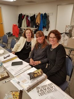 Working hard - Diane O'Brien, Kim Hensley and Laurie Bloom at the state meeting Feb 2018