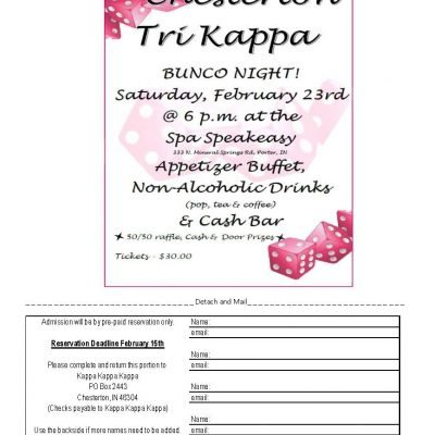 Chesterton Epsilon Kappa Bunco Night