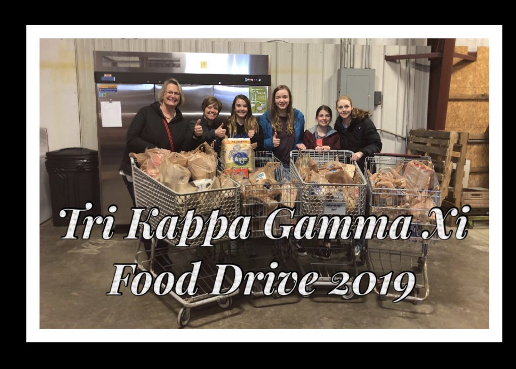 Gamma Xi Food Drive