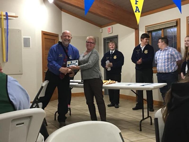 Westville Chapter receives Honorary FFA membership April 2019